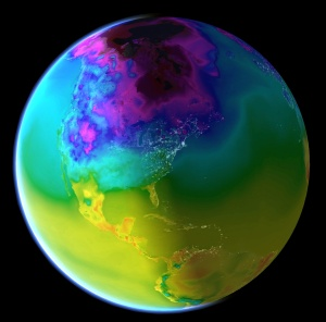 earth, temperature view
